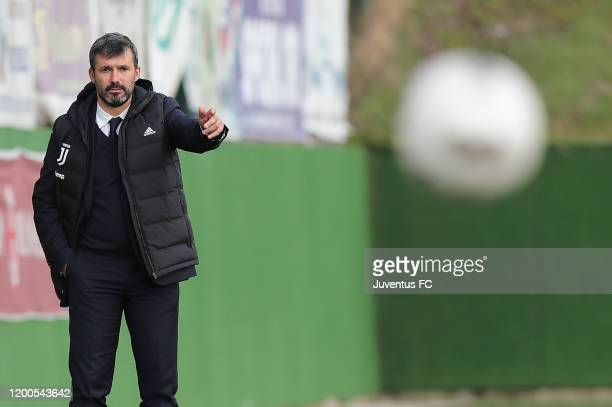 Alessandro Spugna manager of Juventus Women U19 looks on during the Viareggio Women's Cup match between Juventus U19 and FC Internazionale U19 on...