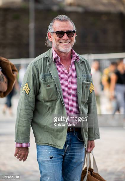 Alessandro Squarzi is seen during the 94th Pitti Immagine Uomo on June 12 2018 in Florence Italy