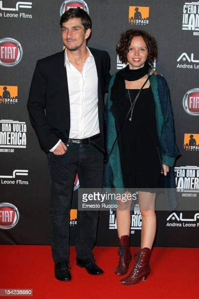 Alessandro Tiberi and Michela attend the 'C'era Una Volta In America Director's Cut' premiere at Space Moderno on October 16 2012 in Rome Italy