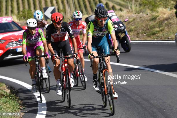 Alessandro Tonelli of Italy and Team Bardiani CSF Faizane / Thomas De Gendt of Belgium and Team Lotto Soudal / Etienne Van Empel of The Netherlands...