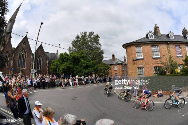 Alessandro Tonelli of Italy and Team Bardiani CSF / Scott Davies of Great Britain and Team Dimension Data / Cameron Meyer of Australia and Team...