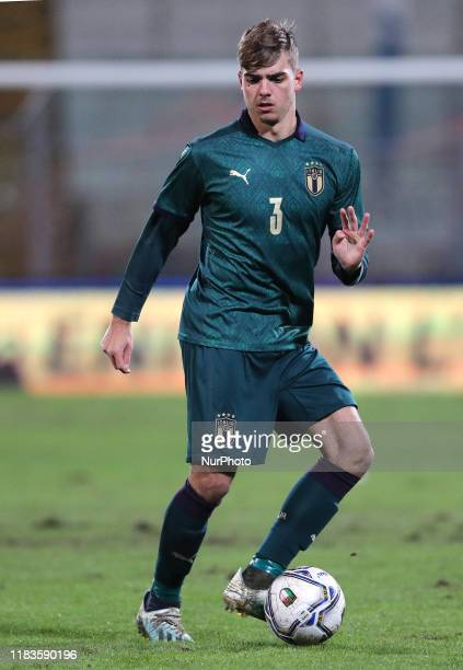 Alessandro Tripaldelli of Italy during the UEFA U21 European Championship Qualifier match between Italy and Armenia at Stadio Angelo Massimino on...