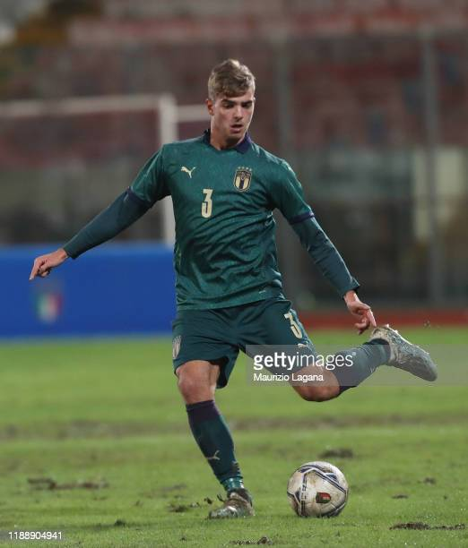 Alessandro Trippaldelli of Italy during the UEFA U21 European Championship Qualifier match between Italy and Armenia at Stadio Angelo Massimino on...