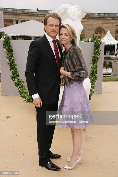 Alessandro Vallarino Gancia and Delphine Arnault at the Christian Dior Haute Couture FallWinter 2007/2008 collection held at the Versailles Castle...