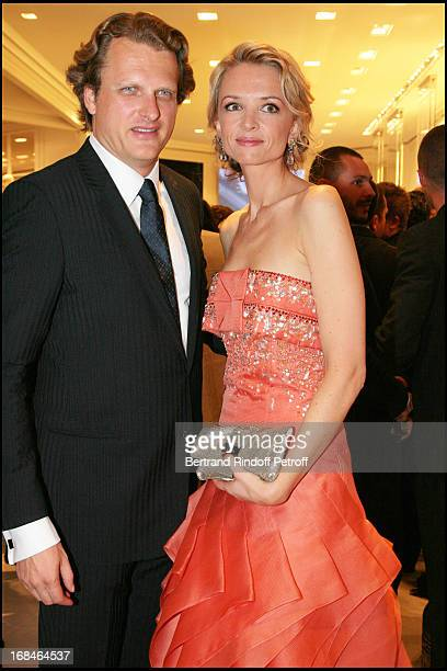 Alessandro Vallarino Gancia and Delphine Vallarino Gancia at Stars Wearing Dior Jewelry