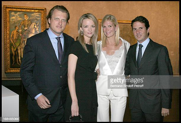Alessandro Vallarino Gancia his wife Delphine Arnault Segolene Frere and her husband Ian Gallienne at Private Viewing Of The Exhibition Picasso Et...