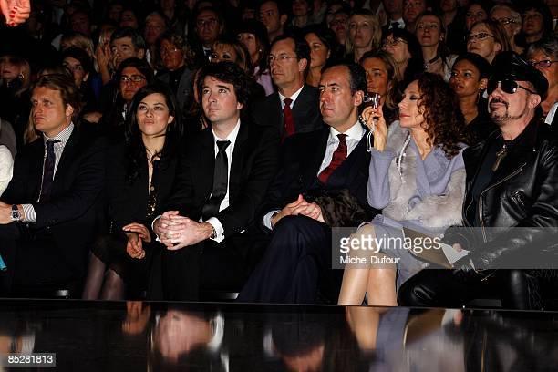 Alessandro Vallarino Gancia Mylene Jampanoi Antoine Arnault Jaime de Marichalar and Peter Marino attend the Christian Dior ReadytoWear A/W 2009...
