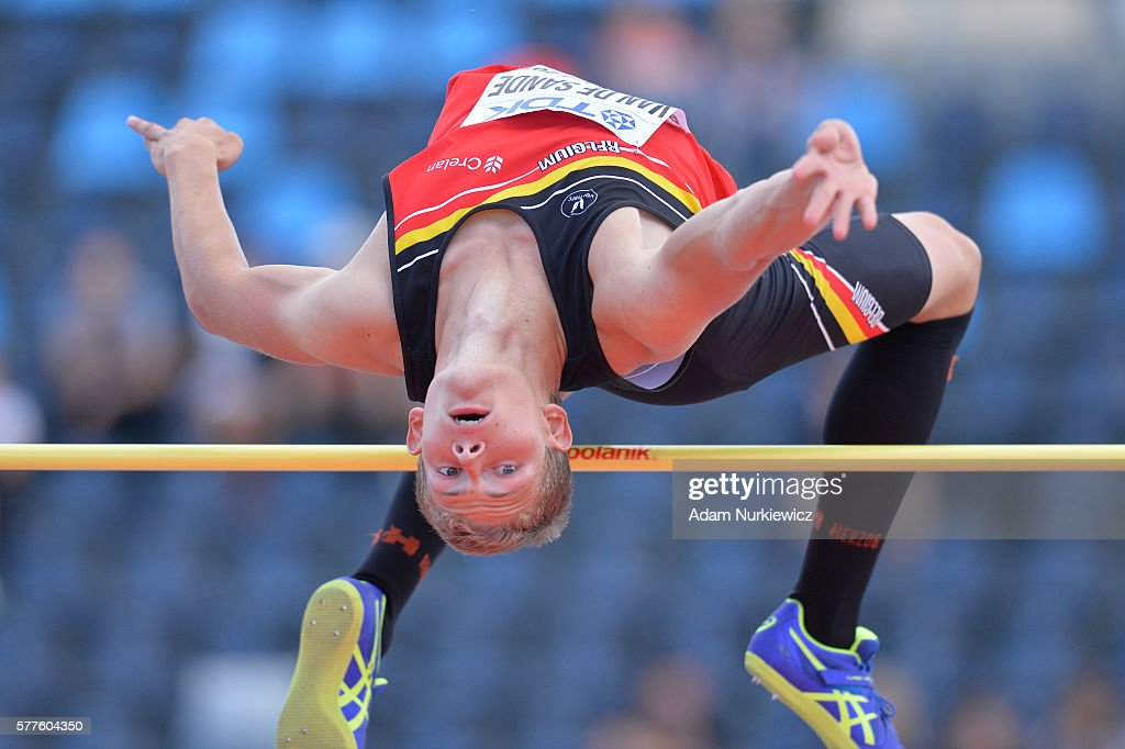 Alessandro Van De Sande from Belgium competes in the men's high jump decathlon during the IAAF World U20 Championships - Day 1 at Zawisza Stadium on July 19, 2016 in Bydgoszcz, Poland.