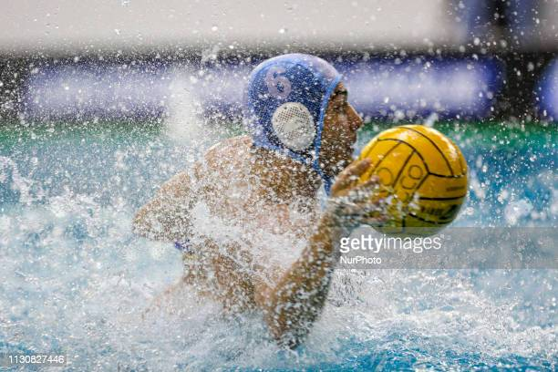 Alessandro Velotto of Pro Recco during the Champions League water polo match between Pro Recco and Barceloneta on march 15 2019 at Piscina...