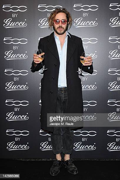 Alessandro Villata attends 500 by Gucci Short Film Collection cocktail party on April 16 2012 in Milan Italy