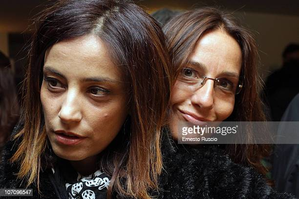 Alessia Barela and Mariasole Tognazzi attend the A Letto Dopo Il Carosello theatre premiere at Teatro 7 on November 23 2010 in Rome Italy