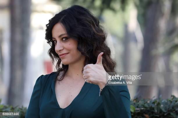 Alessia Barela attends a photocall for 'La Porta Rossa' fiction Rai at Villa Borghese on February 15 2017 in Rome Italy