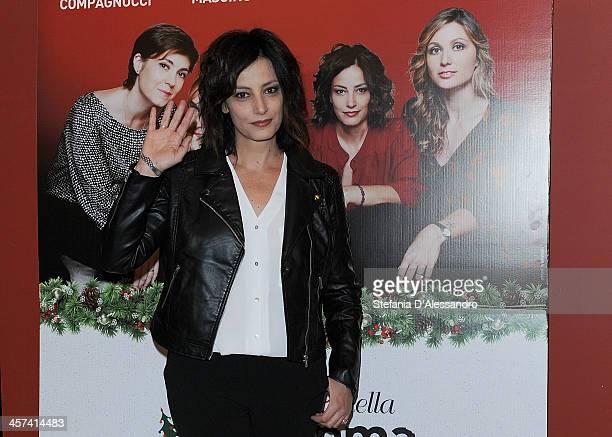 Alessia Barela attends 'Il Natale Della Mamma Imperfetta' Photocall on December 17 2013 in Milan Italy