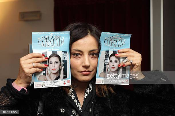 Alessia Barela attends the A Letto Dopo Il Carosello theatre premiere at Teatro 7 on November 23 2010 in Rome Italy