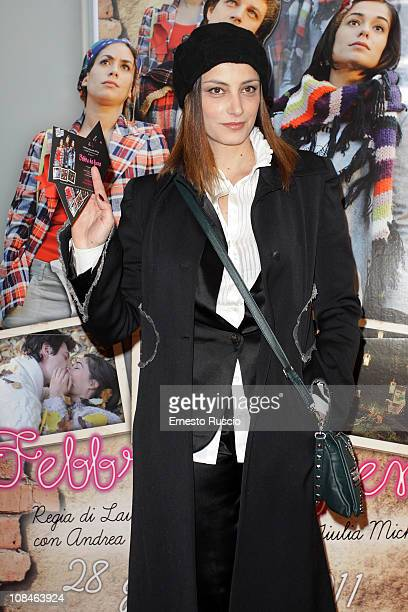 Alessia Barela attends the Febbre Da Fieno premiere at Emassy Cinema on January 27 2011 in Rome Italy
