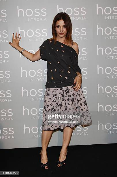 Alessia Barela attends the Hoss Intropia Flagship Store Opening on July 7 2011 in Rome Italy