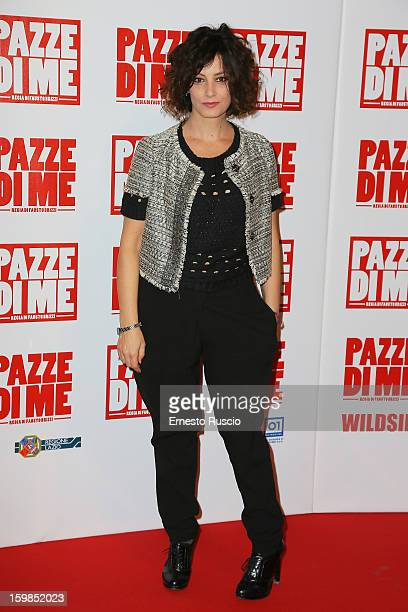 Alessia Barela attends the 'Pazze di Me' premiere at Teatro Sistina on January 21 2013 in Rome Italy