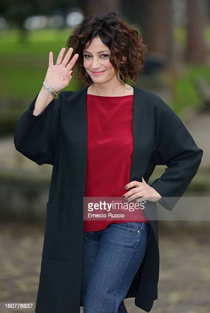 Alessia Barela attends the 'Una Mamma Imperfetta' photocall at Tree Bar on February 5 2013 in Rome Italy