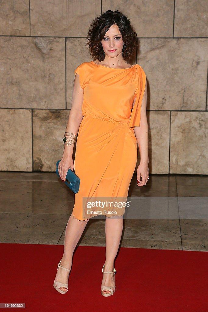 Alessia Barela attends the 'Viaggio Sola' premiere at Ara Pacis on March 26, 2013 in Rome, Italy.