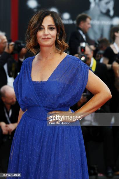Alessia Barela walks the red carpet ahead of the 'The Sisters Brothers' screening during the 75th Venice Film Festival at Sala Grande on September 2...