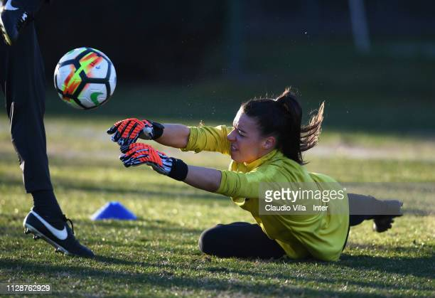 Alessia Capelletti of FC Internazionale Women in action during a training session at Suning Youth Development Centre in memory of Giacinto Facchetti...
