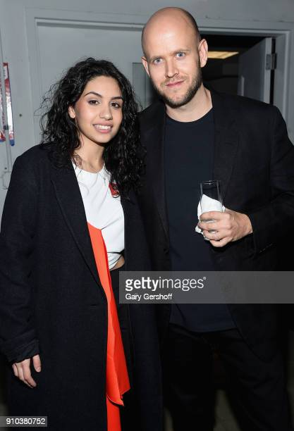 Alessia Cara and Spotify CEO Daniel Ek attend 'Spotify's Best New Artist Party' at Skylight Clarkson on January 25 2018 in New York City