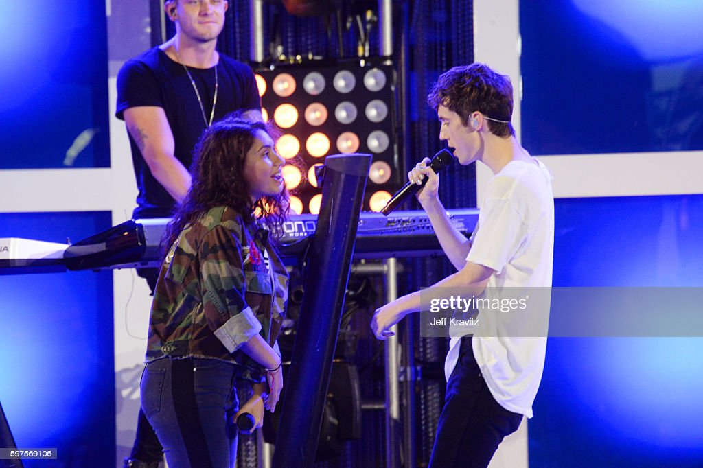 Alessia Cara And Troye Sivan Perform Onstage During The 2016 Mtv