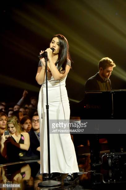 Alessia Cara and Zedd perform 'Stay' onstage during the 2017 American Music Awards at Microsoft Theater on November 19 2017 in Los Angeles California