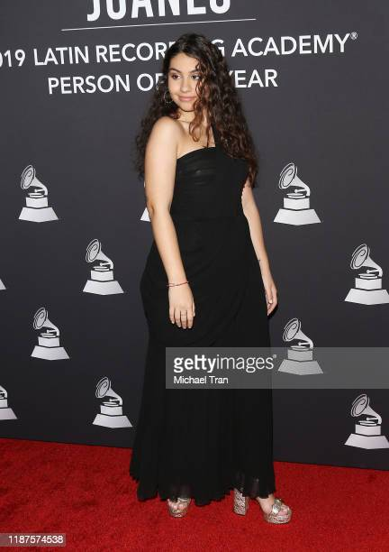 Alessia Cara attends The Latin Recording Academy's 2019 Person Of The Year Gala Honoring Juanes held at the Premier Ballroom at MGM Grand Hotel...