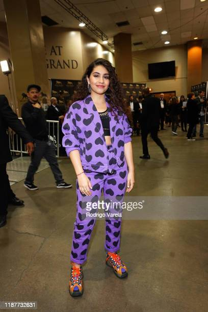 Alessia Cara backstage at the 20th annual Latin GRAMMY Awards at MGM Grand Garden Arena on November 14, 2019 in Las Vegas, Nevada.