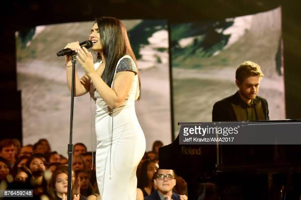 Alessia Cara onstage during the 2017 American Music Awards at Microsoft Theater on November 19 2017 in Los Angeles California