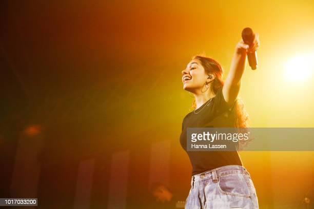 Alessia Cara performs at Move In The City at Royal Hall of Industries Moore Park on August 15 2018 in Sydney Australia