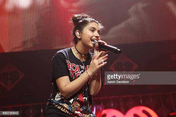 Alessia Cara performs at Y100's iHeartRadio Jingle Ball 2016 at BBT Center on December 18 2016 in Sunrise Florida