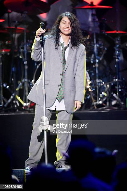 Alessia Cara performs at Z100's Jingle Ball 2018 at Madison Square Garden on December 7 2018 in New York City