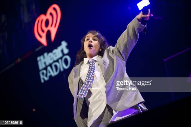 Alessia Cara performs during 1035 KISS FM's Chicago Jingle Ball 2018 on December 12 2018 in Chicago Illinois