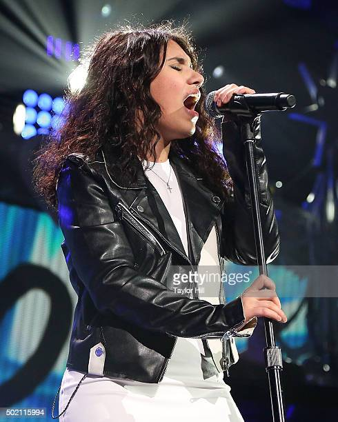 Alessia Cara performs during the 2015 93.3 FLZ Jingle Ball at Amalie Arena on December 19, 2015 in Tampa, Florida.