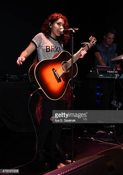 Alessia Cara performs during the Def Jam Upfronts 2015 Showcase Powered By Samsung Milk Music Milk Video at Arena on May 12 2015 in New York City