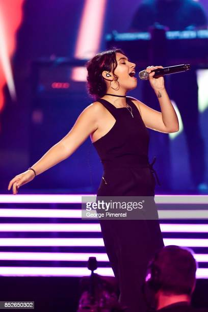 Alessia Cara performs during the opening ceremony of Invictus Games Toronto 2017 at Air Canada Centre on September 23 2017 in Toronto Canada