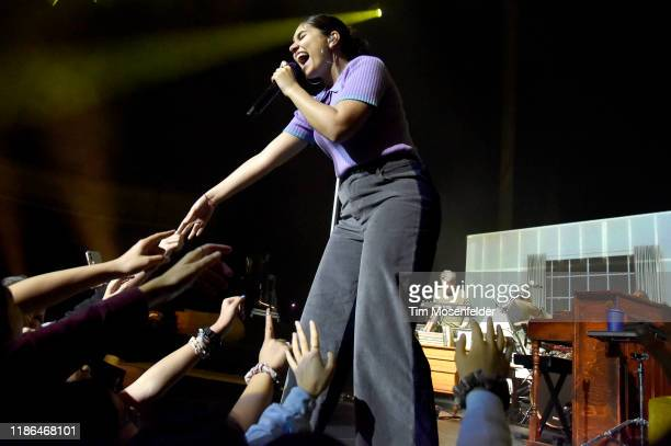 """Alessia Cara performs during """"The Pains of Growing tour"""" at The Masonic Auditorium on November 08, 2019 in San Francisco, California."""