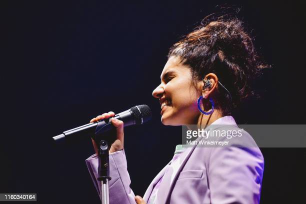 Alessia Cara performs during the Shawn Mendes Concert Los Angeles CA at Staples Center on July 05 2019 in Los Angeles California