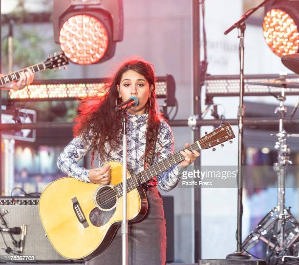 Alessia Cara performs on stage during NBC Today Show concert in honor of International Day of the Girl at Rockfeller Plaza