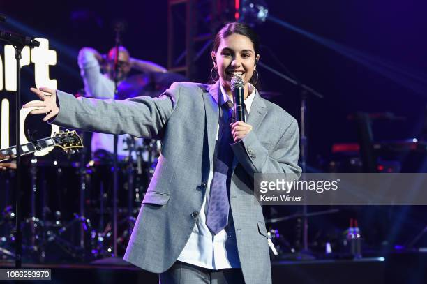 Alessia Cara performs onstage at iHeartRadio Album Release Party at iHeartRadio Theater on November 28 2018 in Burbank California
