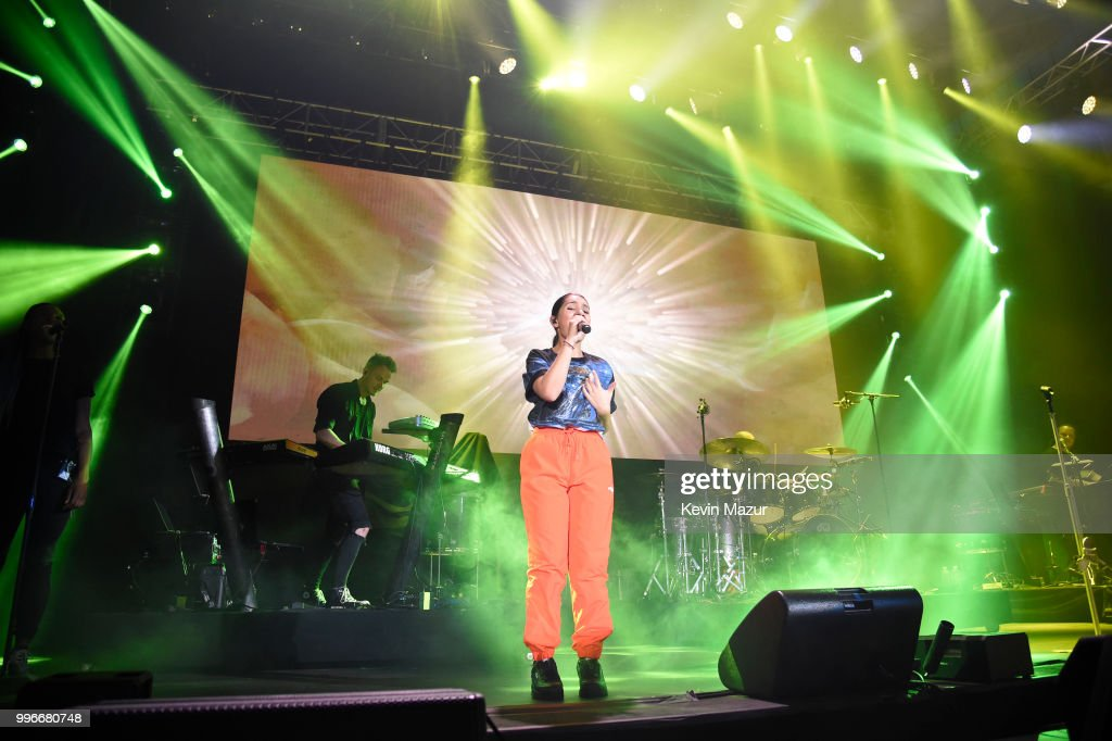Alessia Cara performs onstage at the Amazon Music Unboxing Prime Day event on July 11, 2018 in Brooklyn, New York.