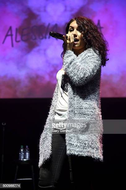 Alessia Cara performs onstage at Z100's Jingle Ball 2015 Z100 CocaCola All Access Lounge Show at Hammerstein Ballroom on December 11 2015 in New York...