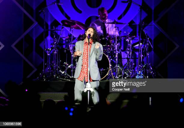 Alessia Cara performs onstage during 1061 KISS FM's Jingle Ball 2018 at American Airlines Center on November 27 2018 in Dallas Texas
