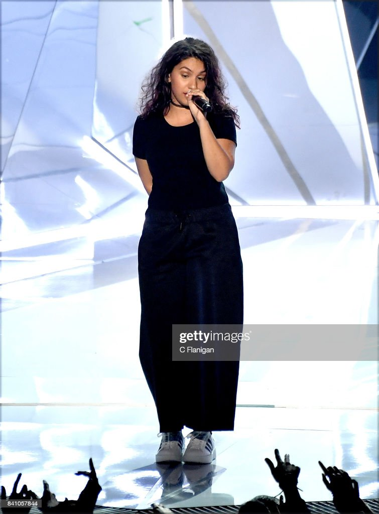 Alessia Cara performs onstage during the 2017 MTV Video Music Awards at The Forum on August 27, 2017 in Inglewood, California.