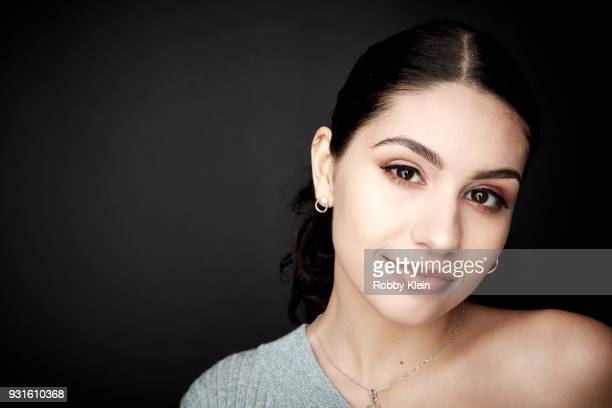Alessia Cara poses for a portrait at the 60th Annual GRAMMY Awards I'm Still Standing A GRAMMY Salute To Elton John at The Theater at Madison Square...