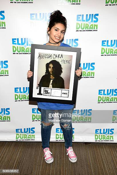 Alessia Cara visits 'The Elvis Duran Z100 Morning Show' at Z100 Studio on January 26 2016 in New York City