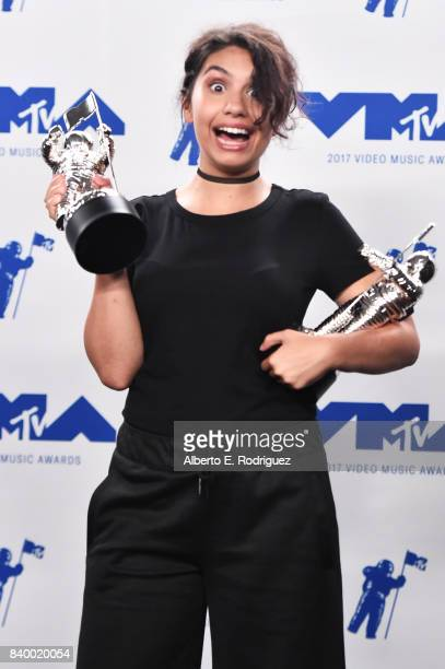 Alessia Cara winner of Best Dance for 'Stay' poses in the press room during the 2017 MTV Video Music Awards at The Forum on August 27 2017 in...