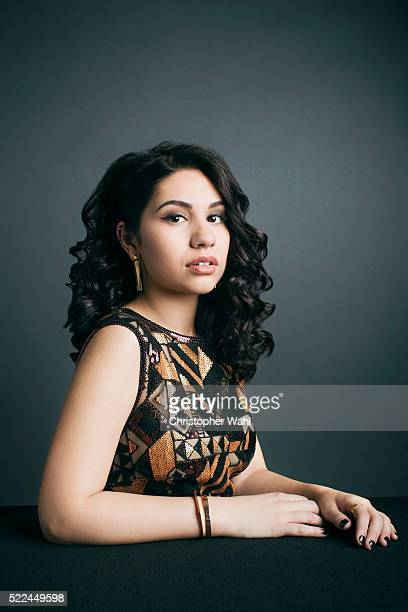 Alessia Caracciolo is photographed at the 2016 Juno Awards for The Globe and Mail on April 3 2016 in Calgary Alberta